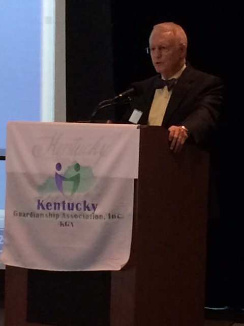 Robert McClleland, a Kentucky attorney specialized in Elder Law, addresses attendants at the KGA 2017 Annual Conference.